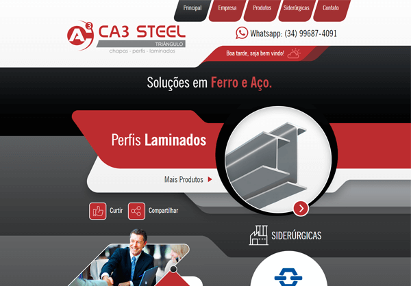 Website CA3 Steel Triângulo
