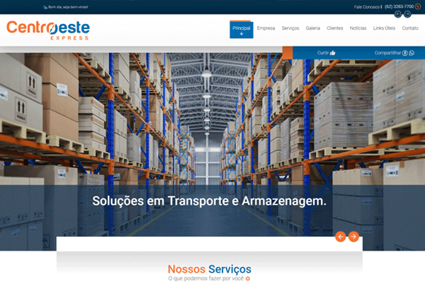 Website Centro Oeste Express