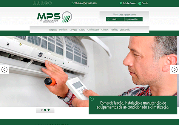 Website MPS Ar Condicionado