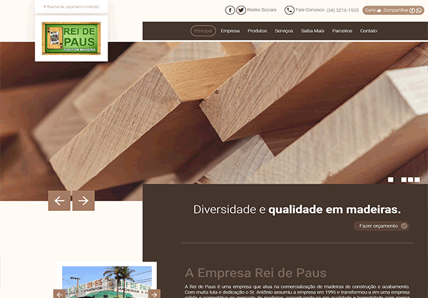 Website Rei de Paus