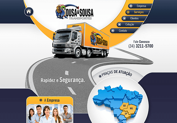 Website Sousa & Sousa Transportes