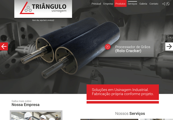 Website Triângulo Usinagem